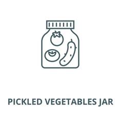 pickled vegetables jar line icon linear vector image