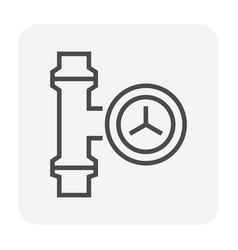 pipe valve icon vector image