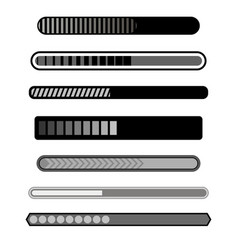 Progress loading bar grey icons vector