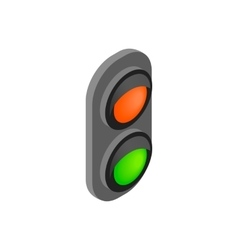 Railway traffic light isometric 3d icon vector image