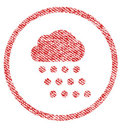 Rain cloud fabric textured icon vector