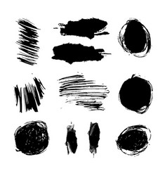 scrawls and blots set vector image