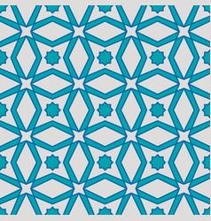 seamless arabic geometric pattern vector image