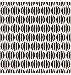 Seamless black and white stripes in circles vector
