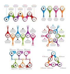 Set colorful infographics in the form of metabolic vector