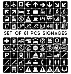 SET-OF-81-PCS-SIGNAGES vector