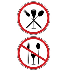 sign of diet vector image
