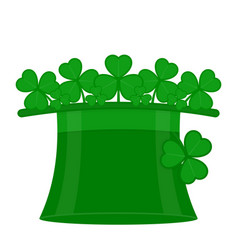 st patricks hat with clover vector image