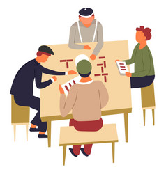 table or board game domino friends or neighbors vector image