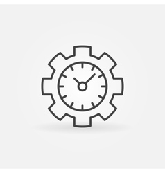 Time management line icon vector
