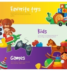 Toys icons for web banners vector