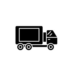 truck black icon sign on isolated vector image