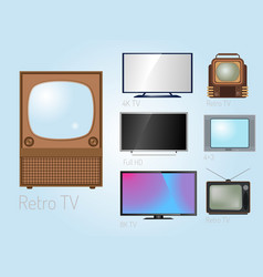 Tv screen lcd monitor template electronic device vector
