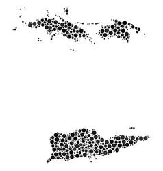 Usa virgin islands map composition of circles vector