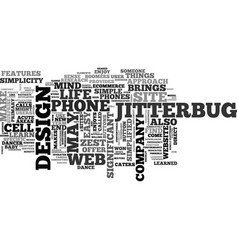 web design the jitterbug approach text word cloud vector image