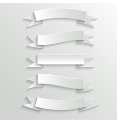 White Paper Banners and Ribbons vector image