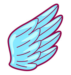 Wing in cartoon style cute funny vector