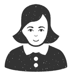 Woman Grainy Texture Icon vector image