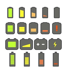 Different accumulator status icons vector image