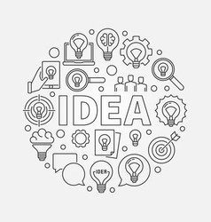idea round vector image