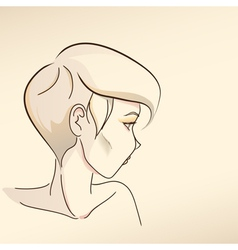 Portrait of woman nude color02 vector image