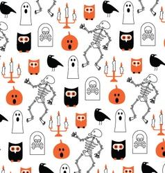 Scary halloween pattern vector