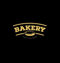 bakery emblem fresh bread logo vector image