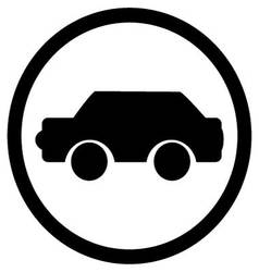 Car icon black vector image vector image