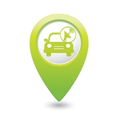 cars satelite GREEN map pointer vector image vector image