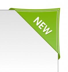 new green corner business ribbon vector image vector image