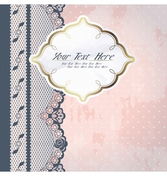 pink background with lace vector image