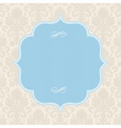 vector pastel ornate blue frame vector image vector image
