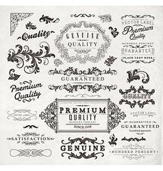 Vintage Label Set vector image vector image