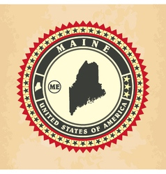 Vintage label-sticker cards of Maine vector image