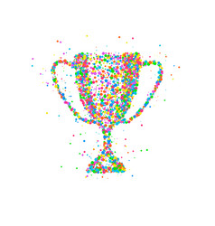 abstract trophy cup vector image vector image