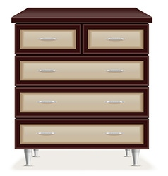 chest of drawers 01 vector image