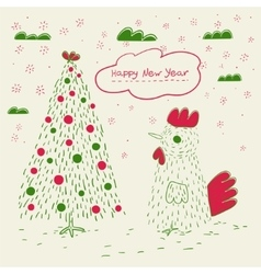Doodle greeting card vector image vector image