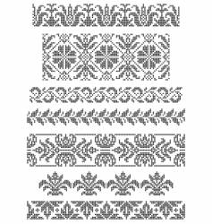 embroidery borders vector image vector image