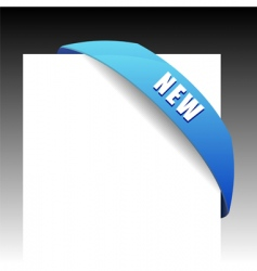 new blue corner business ribbon vector image