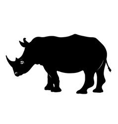 Rhino silhouette vector
