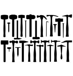Set Of Different Hammers vector image vector image
