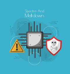 Spectre and meltdown board circuit virus warning vector