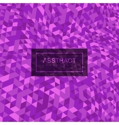 Abstract polygonal distorted background with vector image