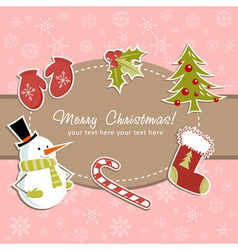 Beautiful Christmas card with vector image vector image