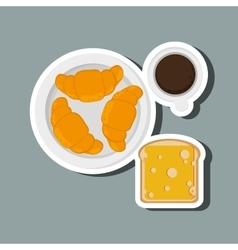 Breakfast icon design vector image