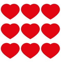 hearts with love icon vector image