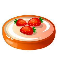 Icon decorative cake with vector