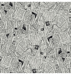 Seamless Pattern with Book Pages vector image vector image