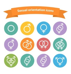 Sexual orientation white web iconssymbolsign vector