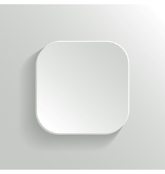 White Blank Button - App Icon Template vector image vector image